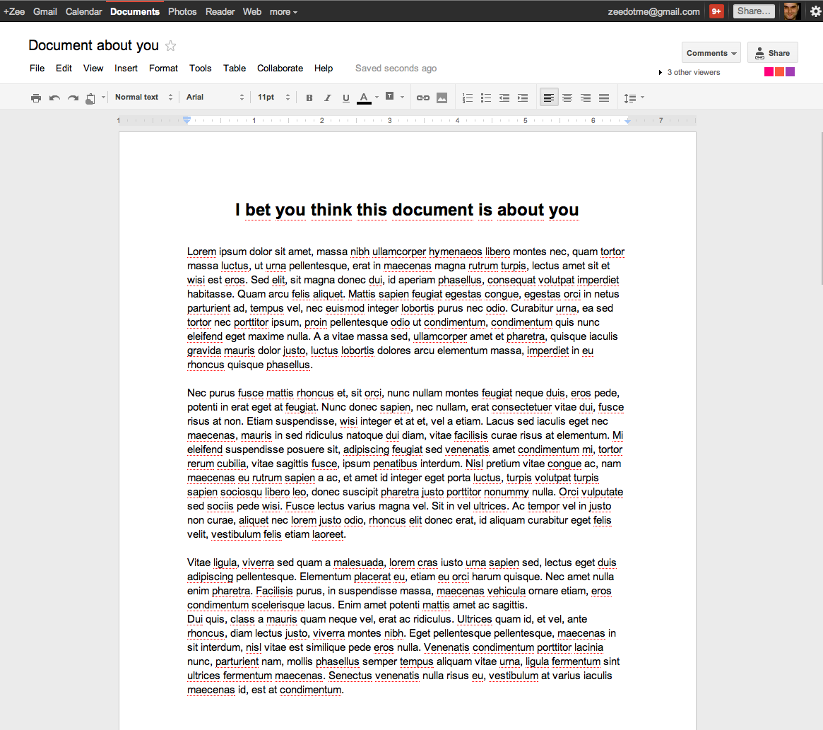 Screen Shot 2011 08 29 at 18.39.21 Google Docs document pages have a minimalist new look