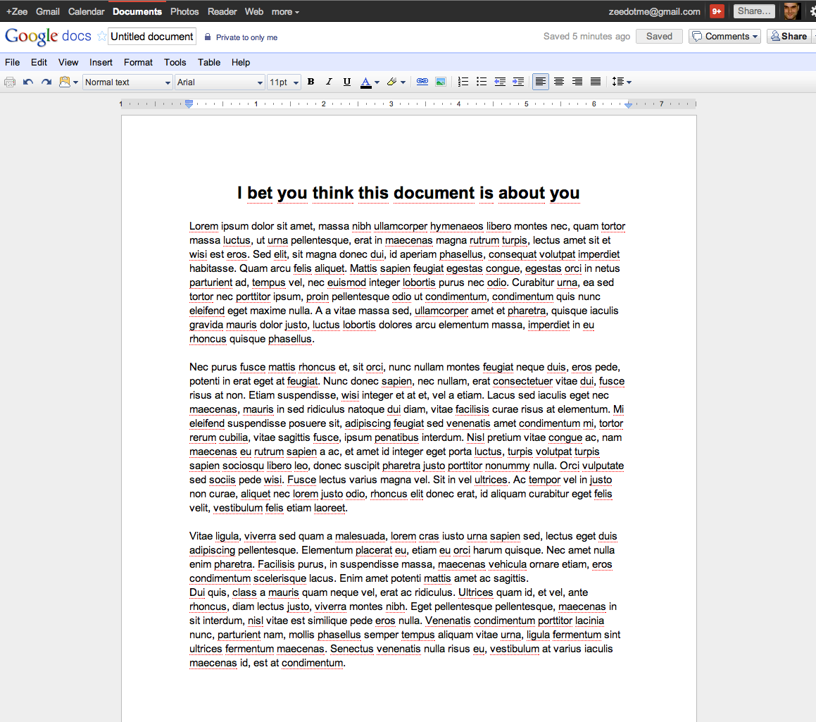 Screen Shot 2011 08 29 at 18.44.17 Google Docs document pages have a minimalist new look