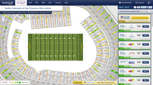 SeatGeek Event Page 520x291 SeatGeek now powers listings across all Yahoo Sports pages