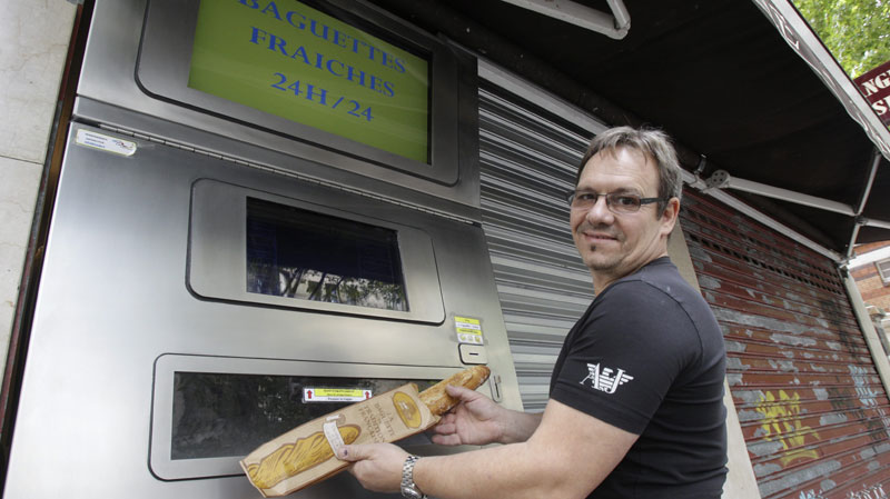 Bon appetit! France gets freshly baked baguette vending machines!