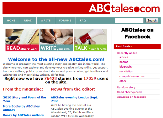 abctales A Guide to Online Inspiration for Writers, Photographers and Designers