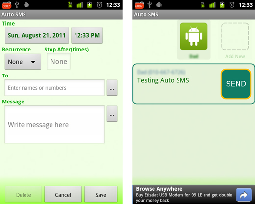 autosms3 Auto SMS: An out of office reply for your Android phone