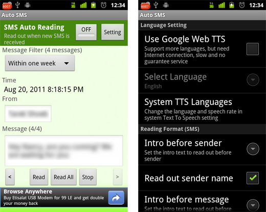 autosms4 Auto SMS: An out of office reply for your Android phone