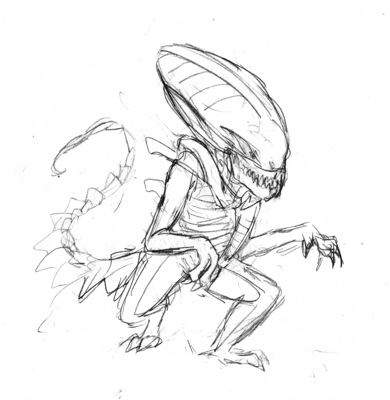 The very first digital drafts of the reddit alien