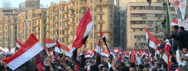 Egyptian activists organize an e-protest on Facebook and Twitter