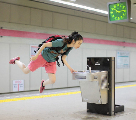 floating 1 Japanese girls incredible levitation photos