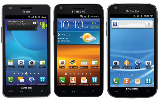 Samsung announces Galaxy S II in USA on AT&T, T-Mobile and Sprint for $199