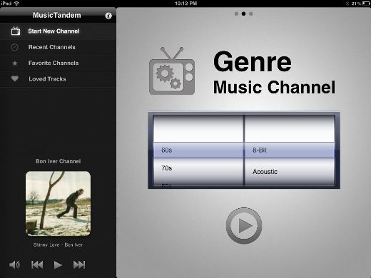 genre MusicTandem: Pandora for your iPad