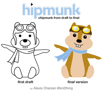 hipmunk sketch to final The very first digital drafts of the reddit alien