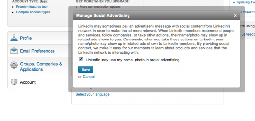 linkedin 520x248 10 risky default settings in social media that you need to check