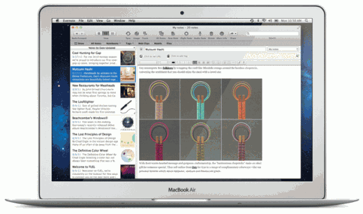 mac newlook 520x306 Evernote 3.0 for Mac OS X Lion is Here