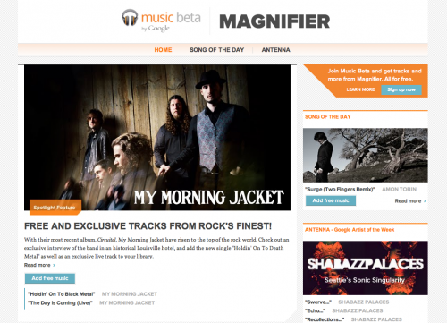 magnifier 500x361 Google just launched a new music discovery site called Magnifier