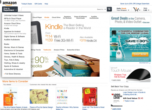 new amazon design 2 520x376 Amazon is testing a slick new site design, built with tablets in mind