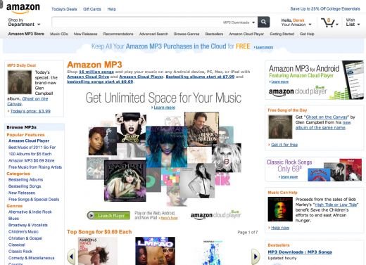 new amazon design 3 520x377 Amazon is testing a slick new site design, built with tablets in mind