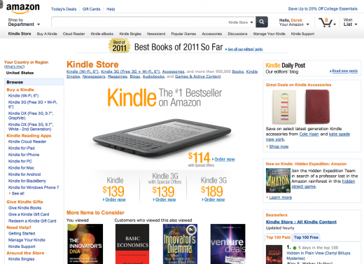 new amazon design 4 520x377 Amazon is testing a slick new site design, built with tablets in mind