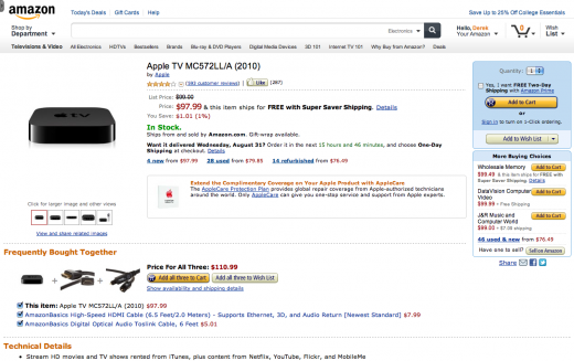 new amazon design 5 520x327 Amazon is testing a slick new site design, built with tablets in mind