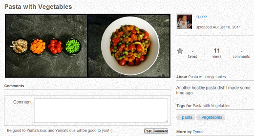 pasta Yumalicio.us: A social network to show off your culinary creations