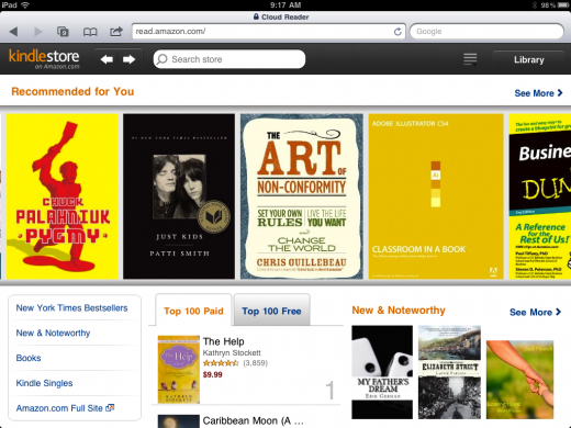 photo 21 520x390 Amazon debuts new Kindle Cloud Reader web app, goes multi platform to bypass App Store terms