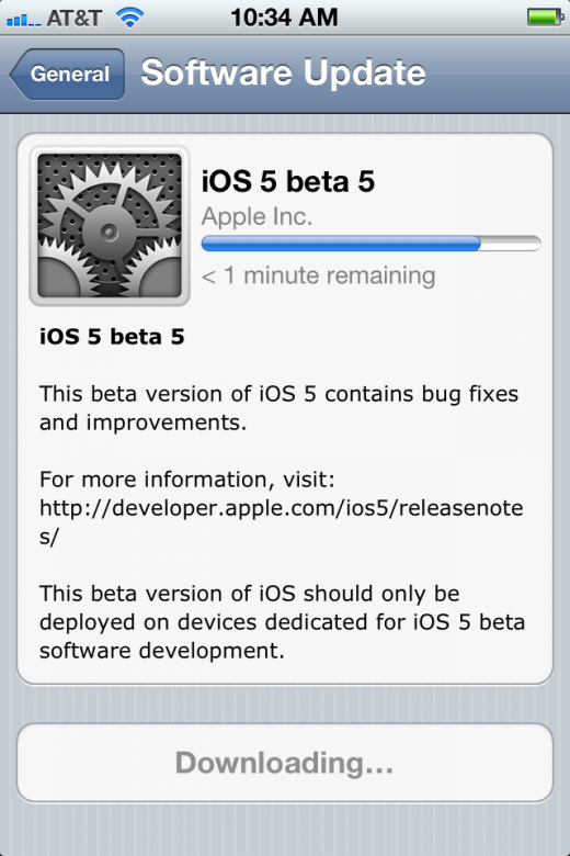 photo 7 520x780 Apple releases iOS 5 Beta 5, iTunes 10.5 Beta 5, Xcode 4.2 DP 5 and Apple TV iOS beta 4