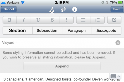 photo2 520x346 Evernote for iOS gets rich text formatting and a new UI for the iPad