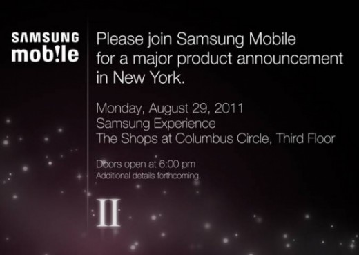 samsung event 520x369 Samsung Galaxy S II to launch in the US on August 29