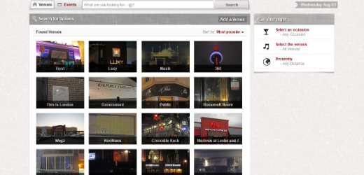 search area Social network setNight sets out to improve your nightlife