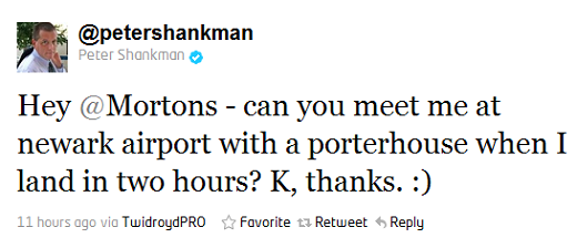 shankman How one tweet can get you a free steak dinner
