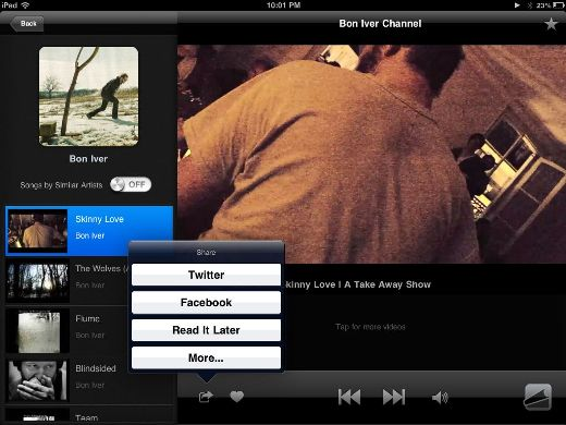 share MusicTandem: Pandora for your iPad