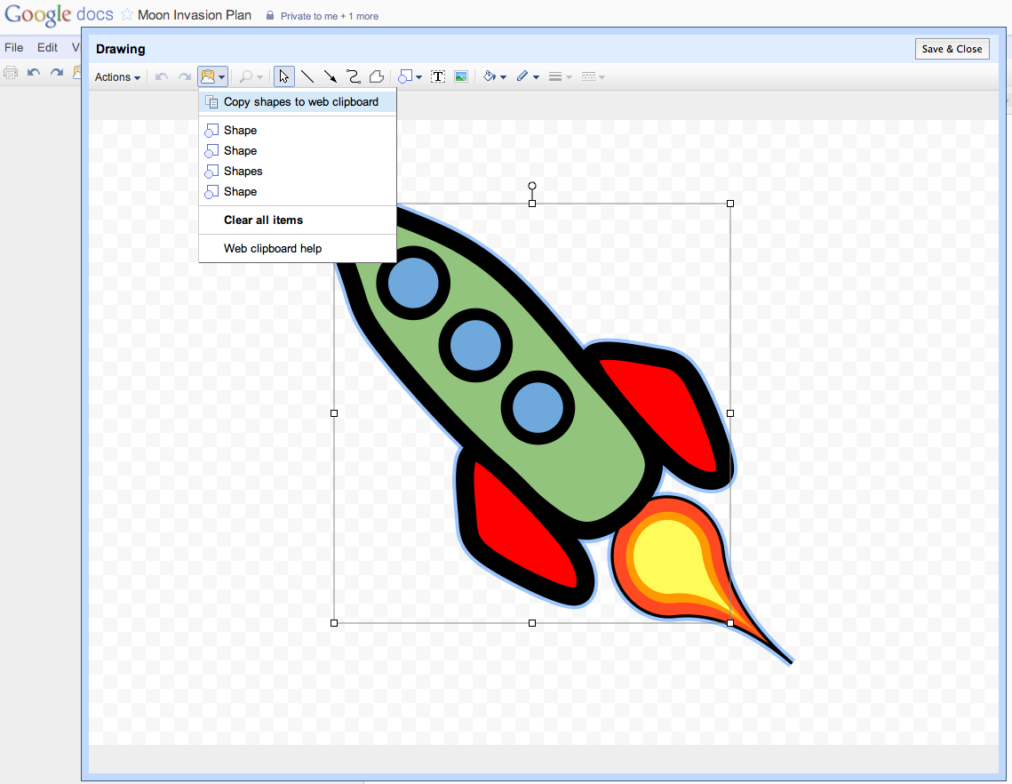 Google Docs Adds Copy And Paste For Drawings And Shapes