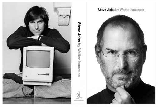 stevejobscovertiteled 520x354 Author reveals front and back cover of official Steve Jobs biography