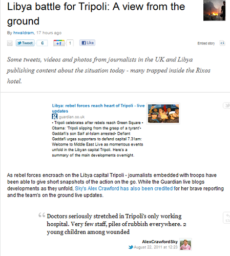 storify Where to go for trusted Web coverage of the Libyan uprising