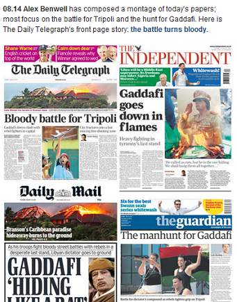 telegraph Where to go for trusted Web coverage of the Libyan uprising