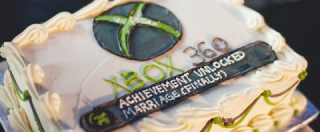 Achievement unlocked! Xbox 360 wedding cake makes a game of marriage