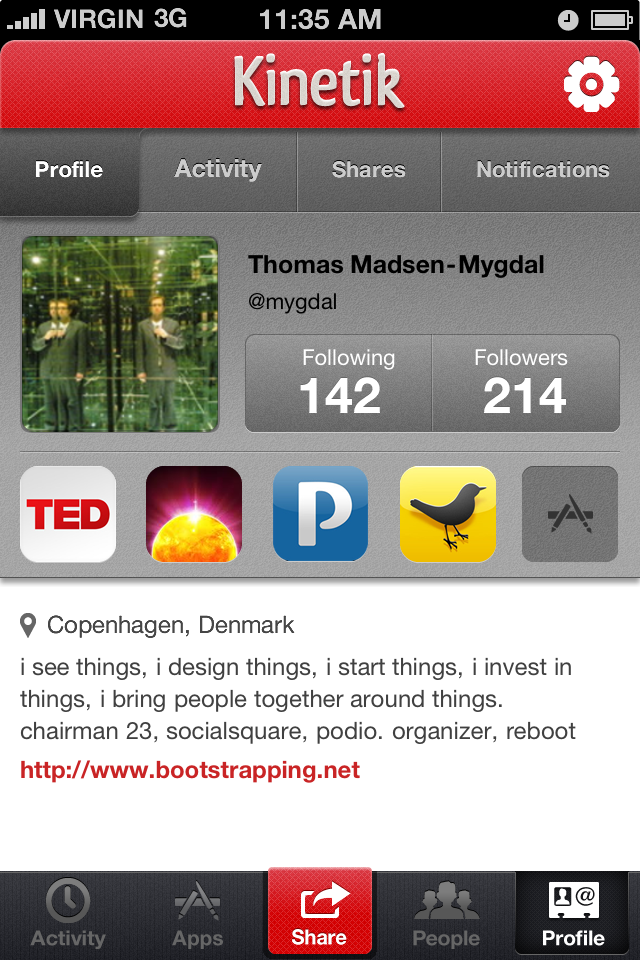Kinetik: An iPhone app that lets you find and share great
