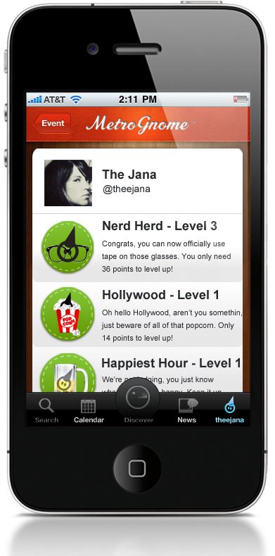 12.MemberProfileLEVELS MetroGnome: The first app smart enough to suggest events youll actually attend