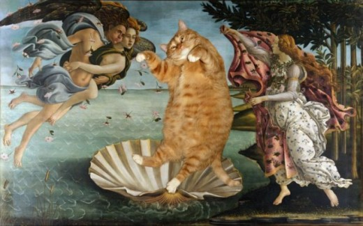 34a42ea0 640x401 520x325 Revisiting Art History...The greatest works of art with Cats!