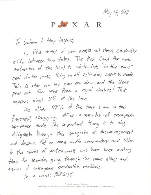 5901216582 af6b1e1b6b o Feeling creatively drained? Let this letter from Pixar inspire you.