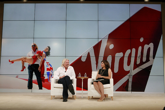Virgin Founder Richard Branson says thumbs up to social media