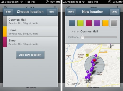 Cues 2 520x384 Want location based reminders on your iPhone? Try Cues.