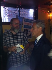 Dan Sinker Rahm Emanuel Twitpick 220x294 Chicago Mayor Rahm Emanuel meets Twitter impostor @MayorEmanuel at book signing