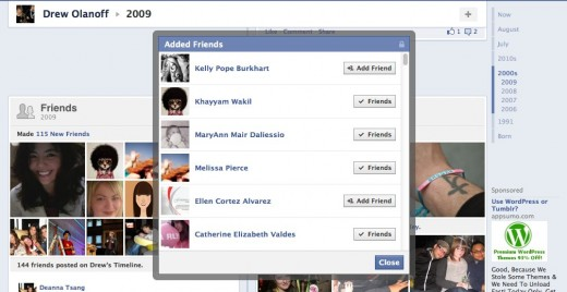 Drew Olanoff 4 520x268 Facebooks new Timeline tells you who unfriended you