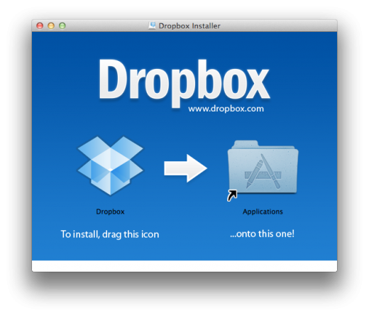 Dropbox Installer 520x445 How to use Dropbox to sync your Documents folder between Macs for free