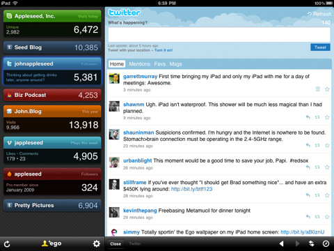 Ego for iPad Keep an eye on your website statistics with these Google Analytics apps for iPhone