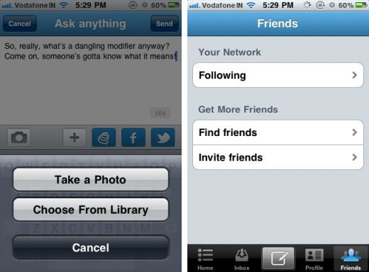 Formspring 2 520x384 Ask me anything service Formspring launches iPhone app