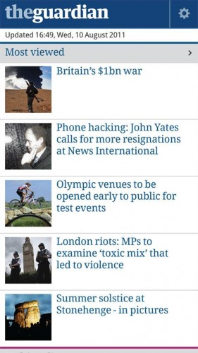 G1 281x500 The Guardian newspaper arrives on Android