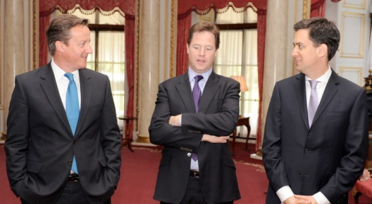 Three of the UK's top political leaders join Google+