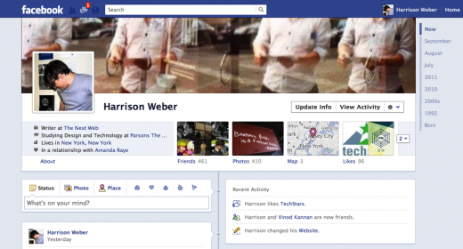 Harrison Weber3 520x280 Facebooks Eerie Goal: Why Timeline Changes Everything