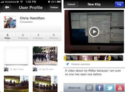 Klip 520x384 Klip brings effortless, beautiful video sharing to the iPhone