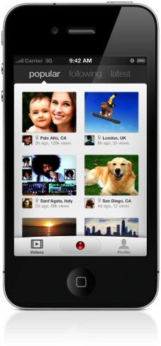 Klip on iPhone Klip brings effortless, beautiful video sharing to the iPhone