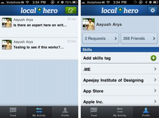 Localhero 1 520x384 Localhero: A location based help network on your iPhone